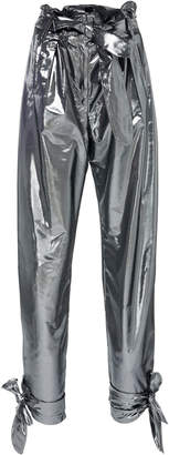ATTICO Lamè High-Rise Straight-Leg Pants