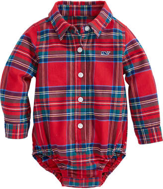 Vineyard Vines Baby Jolly Plaid Flannel One-Piece