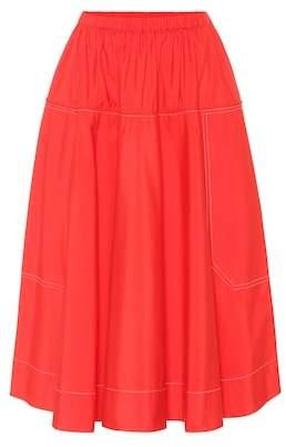 Marni Cotton midi skirt
