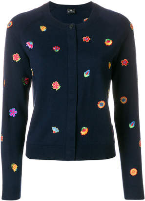 Paul Smith embroidered flower cardigan
