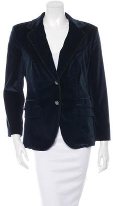 Dolce & Gabbana Velvet Single-Breasted Blazer $145 thestylecure.com