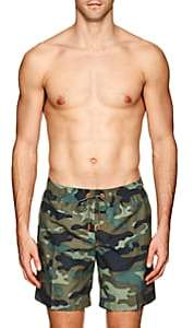 Sundek Men's M504 Camouflage Swim Trunks - Green