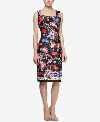 Square Neck Floral Dress