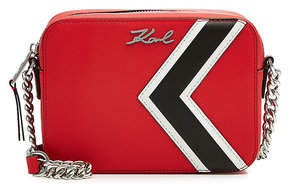 Karl Lagerfeld K/Stripes Leather Camera Bag