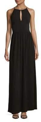 MICHAEL Michael Kors Keyhole Halter Gown