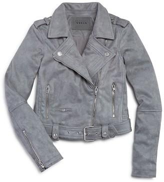 BLANKNYC Girls' Faux Suede Moto Jacket - Big Kid $98 thestylecure.com