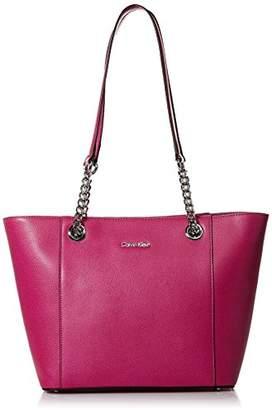 Calvin Klein womens Hayden Mercury Leather East/West Tote
