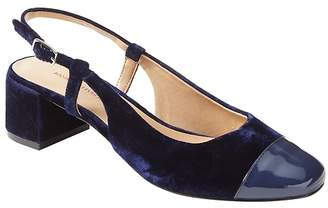 Banana Republic Low Block-Heel Velvet Slingback Pump