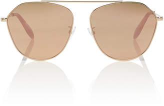 26560eb8c1 Alexander McQueen Sunglasses Gold-Tone Mirrored Aviator-Style Sunglasses