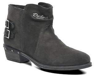 Dockers Women's Tamila Rounded Toe Ankle Boots In Black - Size Uk 6.5 / Eu 40