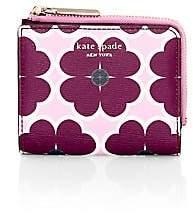 Kate Spade Women's Small Sylvia Clover-Print Bi-Fold Wallet