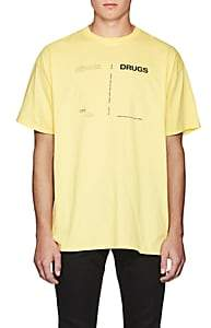Raf Simons Men's Play-Print Cotton Jersey T-Shirt - Yellow