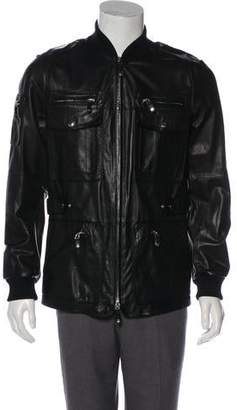 Gucci Leather Zip Jacket
