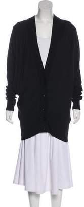 Maison Margiela Leather-Trimmed Knit Cardigan