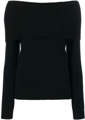 Theory off shoulder sweater