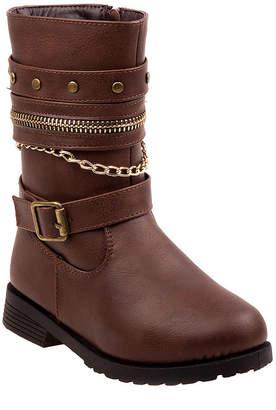 RUGGED BEAR Rugged Bear Flat Heel Zip Winter Boots - Toddler Girls