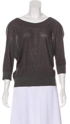 DKNY Silk Bateau Neck Sweater