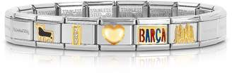 Nomination Classic I Love Barca Gold and Stainless Steel Bracelet