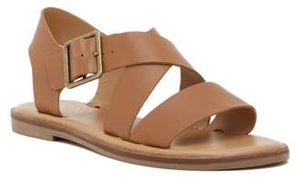 Franco Sarto Kara Leather Buckle Sandal