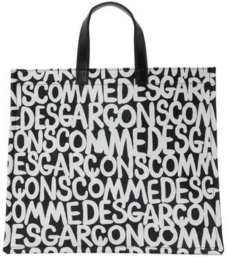 Comme des Garcons Black and White Flat Printed Tote