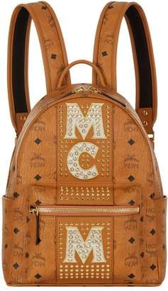 MCM Medium Dual Stark Embellished Backpack