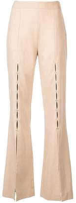 Jonathan Simkhai tailored front slit trousers