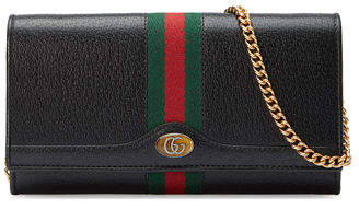 32ddfe22075 Gucci Ophidia Leather Continental Wallet on Chain