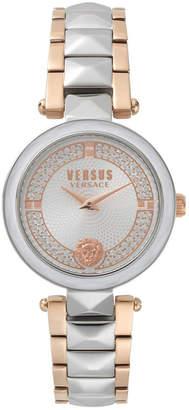 Versus By Versace Versus Women's Convent Garden Crystal Two-Tone Stainless Steel Bracelet Watch 36mm