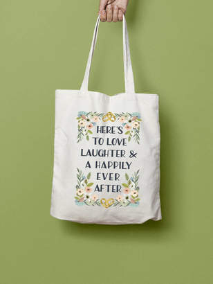 Stephanie B Designs Love Laughter And Happily Ever After Tote Bag