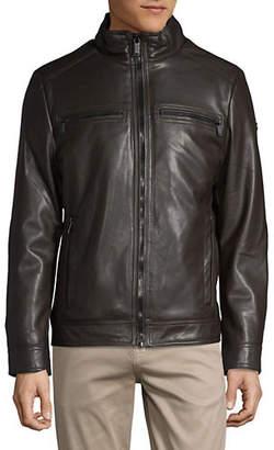 Calvin Klein Faux Fur-Lined Faux Leather Jacket