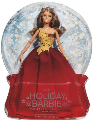 Barbie 2016 Holiday Barbie Doll - Red $59.99 thestylecure.com
