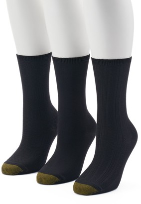 Gold Toe Goldtoe Women's GOLDTOE 3-Pack Ultra Soft Textured Crew Socks