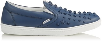 Jimmy Choo GROVE Ocean Sport Calf Leather Slip On Trainers with Mixed Stars