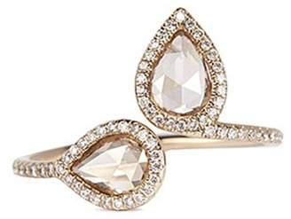 Monique Péan 'Atelier North-South' diamond 18k white gold open ring