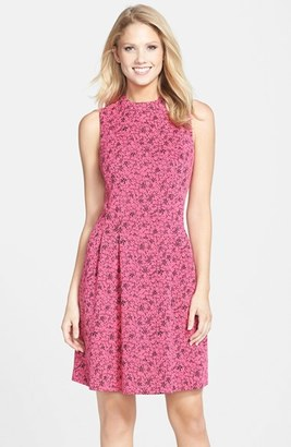 MARC NEW YORK by Andrew Marc Jacquard Fit & Flare Dress