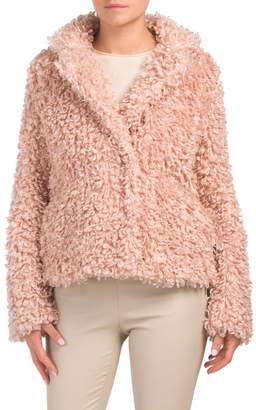 Curly Faux Fur Coat