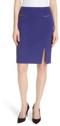 BOSS Veboa Twill Jersey Suit Skirt