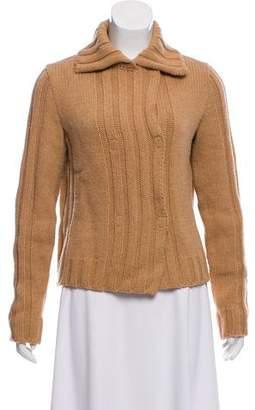 Philosophy di Alberta Ferretti Long Sleeve Wool-Blend Cardigan