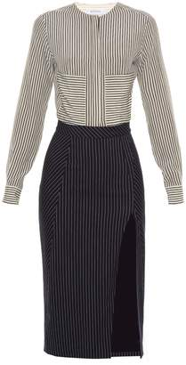 Altuzarra Drexler pinstriped silk dress