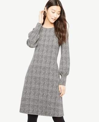 Ann Taylor Petite Plaid Cuffed Dress