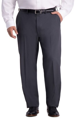 Haggar Big & Tall Travel Performance Classic-Fit Stretch Flat-Front Suit Pants