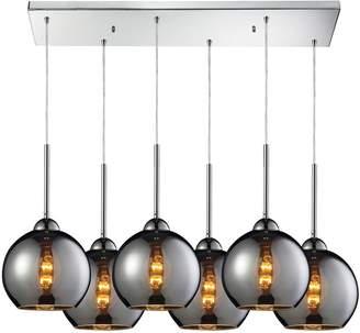 Cassandra Elk Lighting 6 Light Cascading Pendant