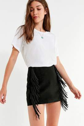 Urban Outfitters Kim Fringe Mini Skirt
