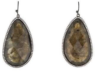 Melinda Maria Labradorite & Cubic Zirconia Drop Earrings
