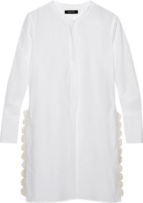 Isabel Marant - Minea Crochet-trimmed Cotton-poplin Tunic - White