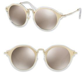 Miu Miu Miu Miu 49MM Mirrored Pantos Sunglasses