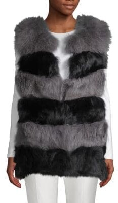 La Fiorentina Dyed Fox Fur Bubble Vest
