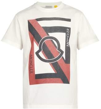 Craig Green 5 Moncler Logo Print Cotton T Shirt - Mens - White