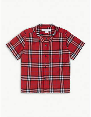 Burberry Checked cotton shirt 6-36 months