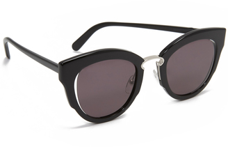 Salvatore Ferragamo Cat Eye Sunglasses $376 thestylecure.com